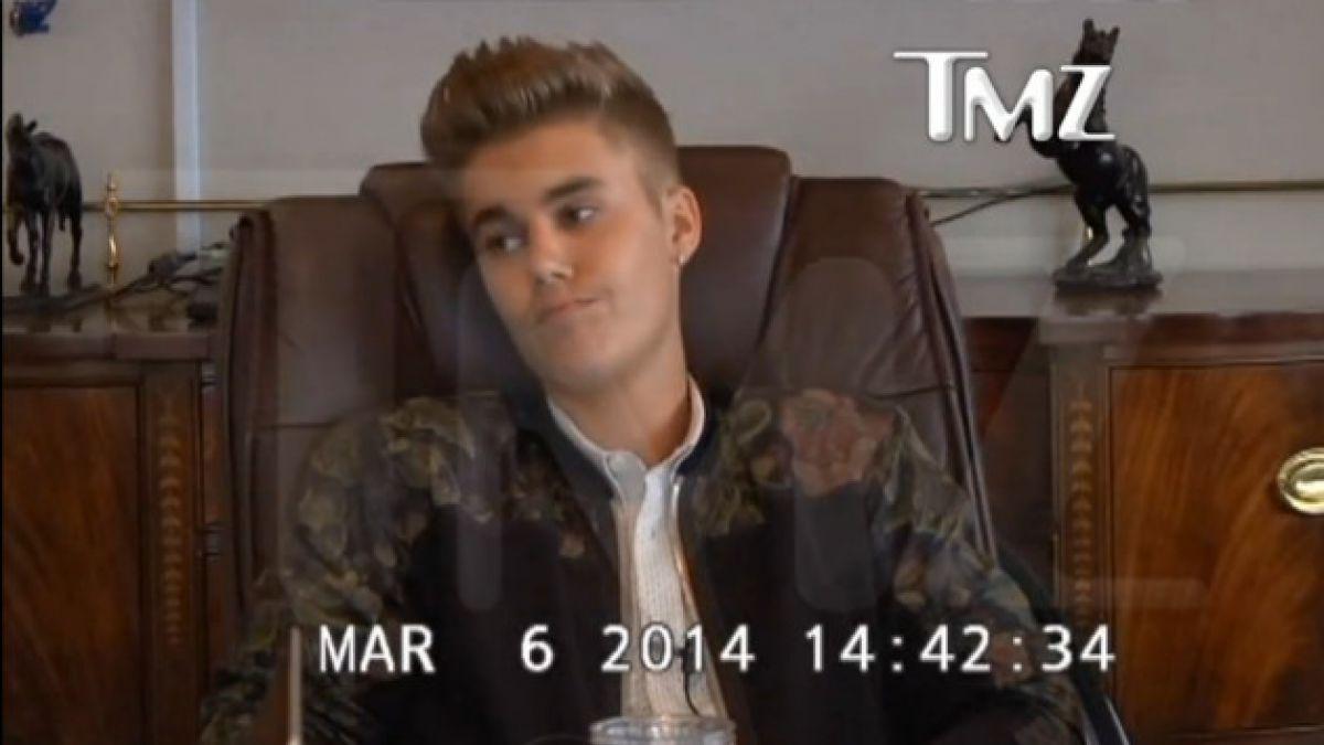 Video muestra a un arrogante Justin Bieber durante reunión con abogado