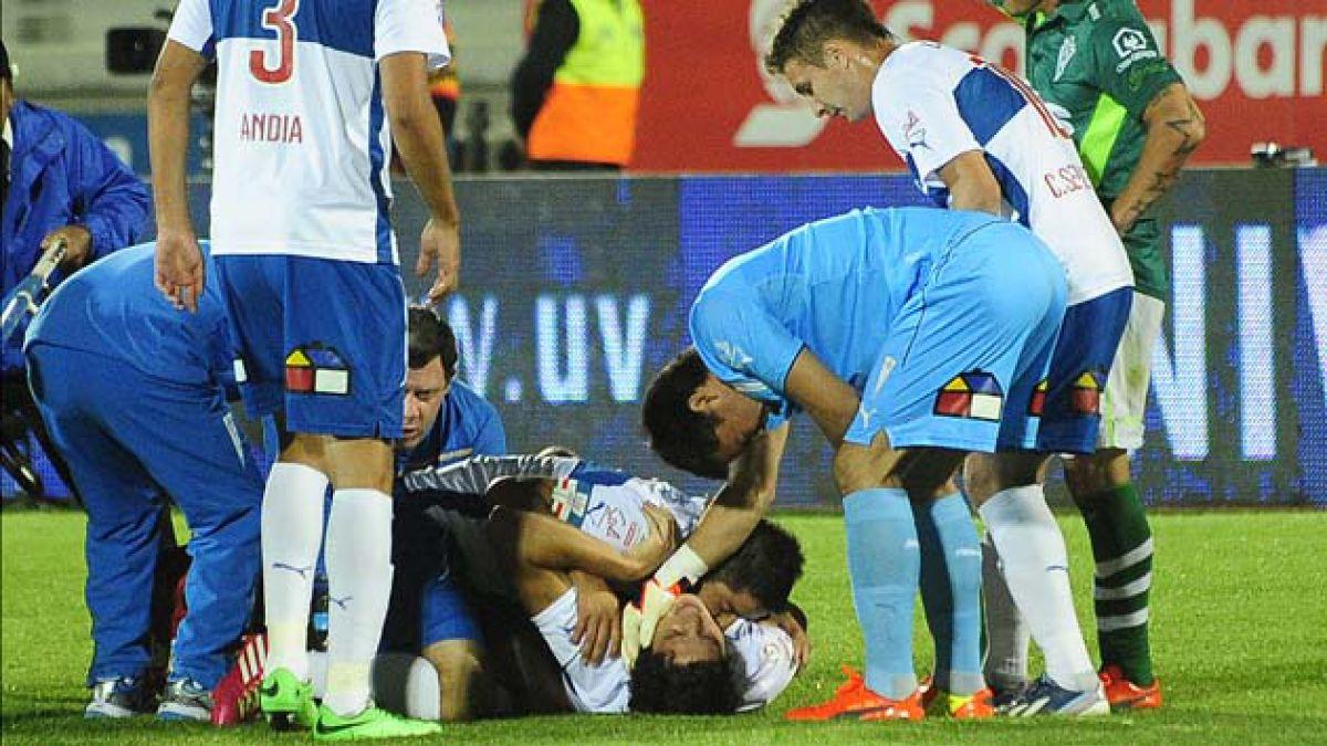 Apoyo total de jugadores a Biskupovic tras fractura