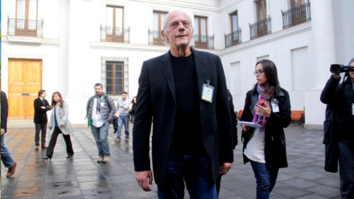 Christopher Lloyd visitó el Palacio de La Moneda