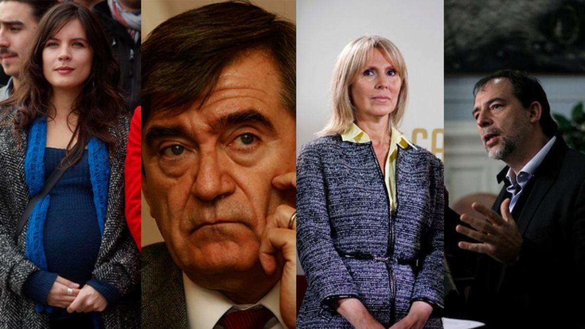 Vallejo, Escalona, Pérez y Girardi: ¿Dónde radica el rechazo a los peor evaluados de la CEP?