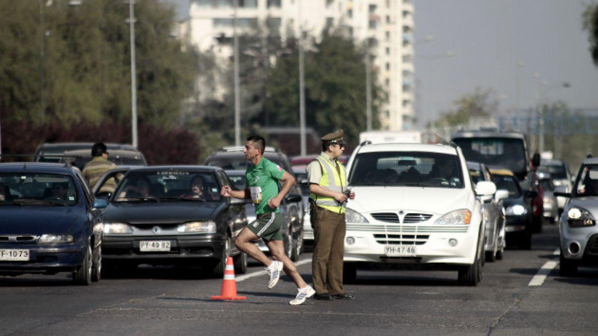 Cortes y desvíos de tránsito: ¿Cómo afectará la Maratón de Santiago a automovilistas y peatones?