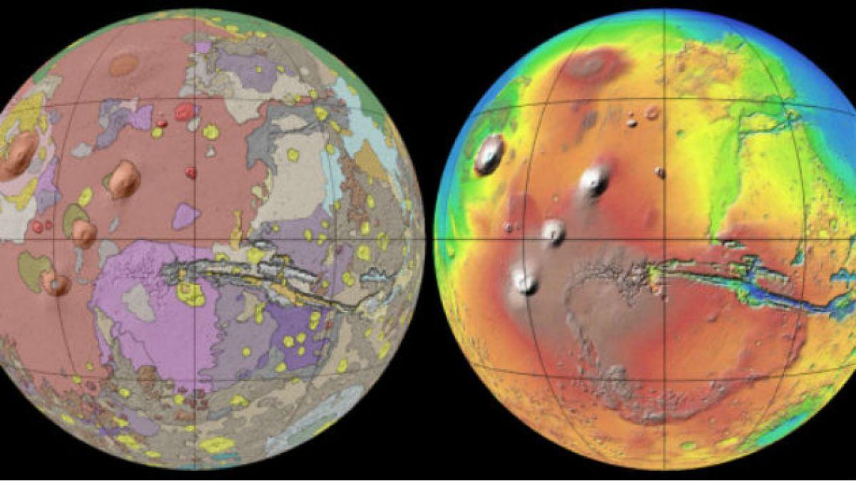 Arman el mapa más detallado de Marte jamás hecho