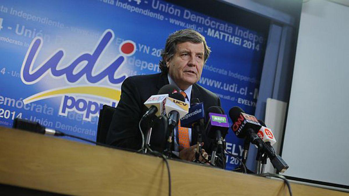 UDI reitera rechazo a reforma tributaria y anuncia que votará en contra de idea de legislar