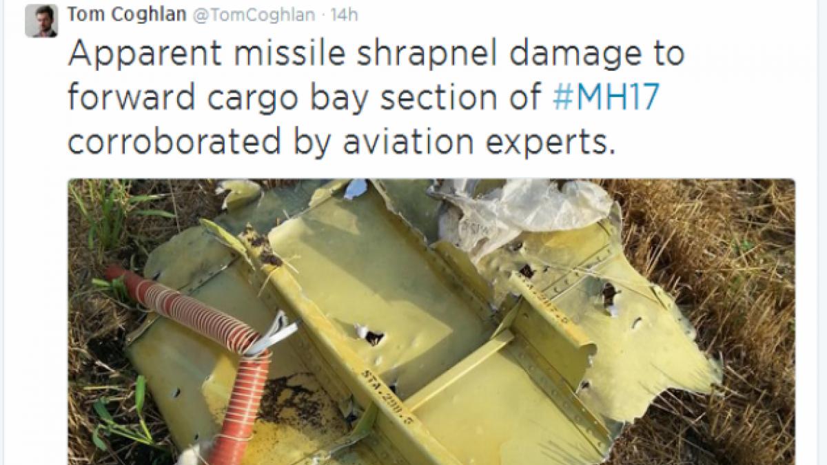 Revelan evidencia que podría demostrar que Malaysia MH17 fue derribado por misil