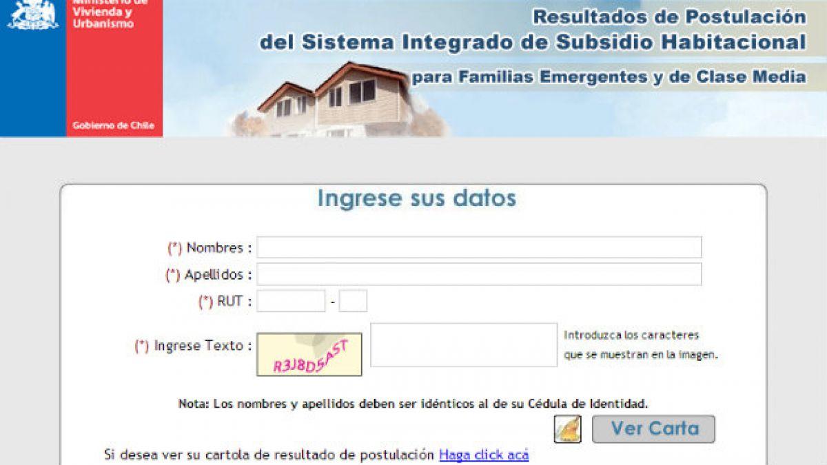 Subsidio habitacional: revisa los resultados de la primera postulación 2014