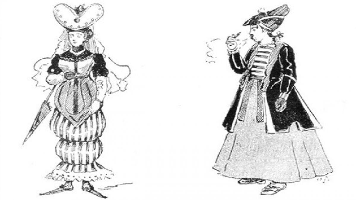 Así imaginaban cómo sería la moda en el futuro en 1893