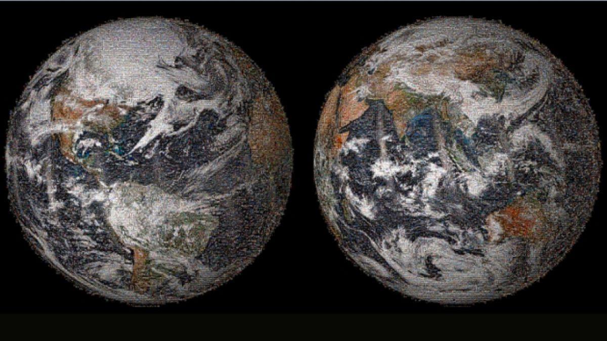 """Día de la Tierra: NASA construyó un mapa-mosaico del mundo con """"selfies"""" de todo el planeta"""