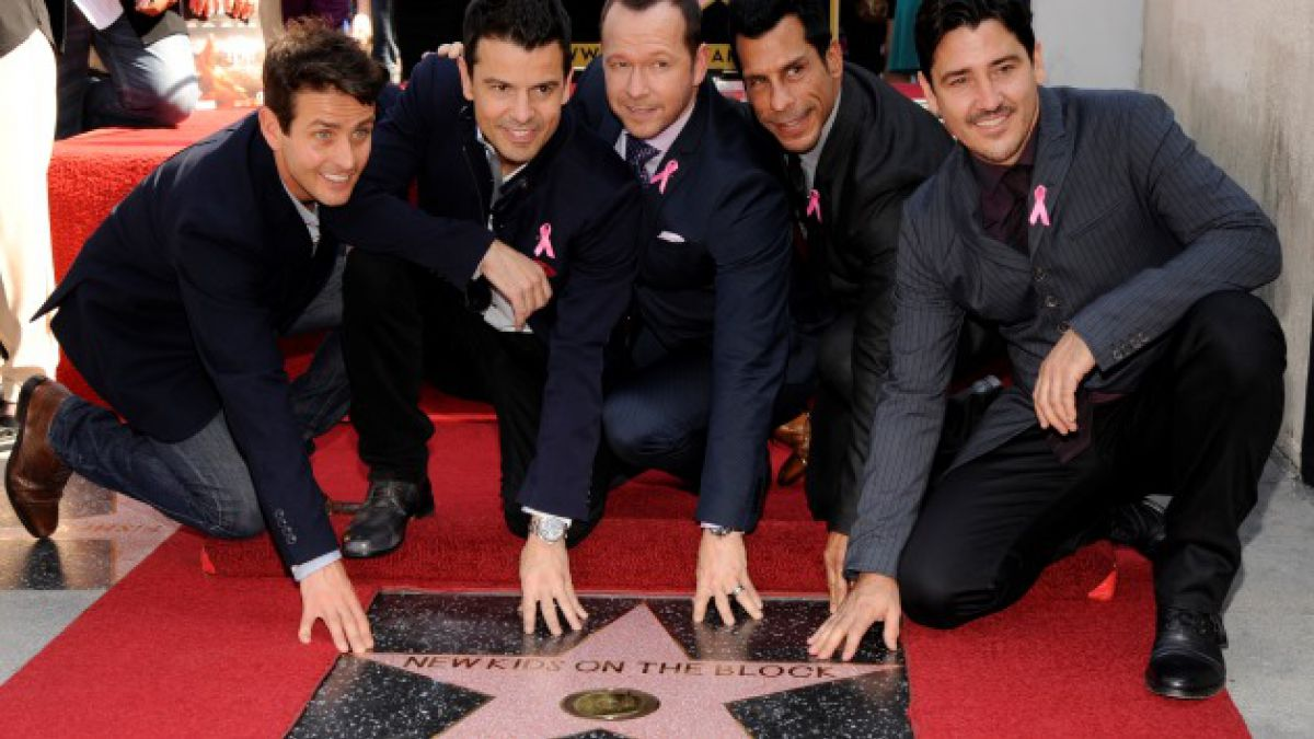 New Kids On The Block recibe su propia estrella en el Paseo de la Fama