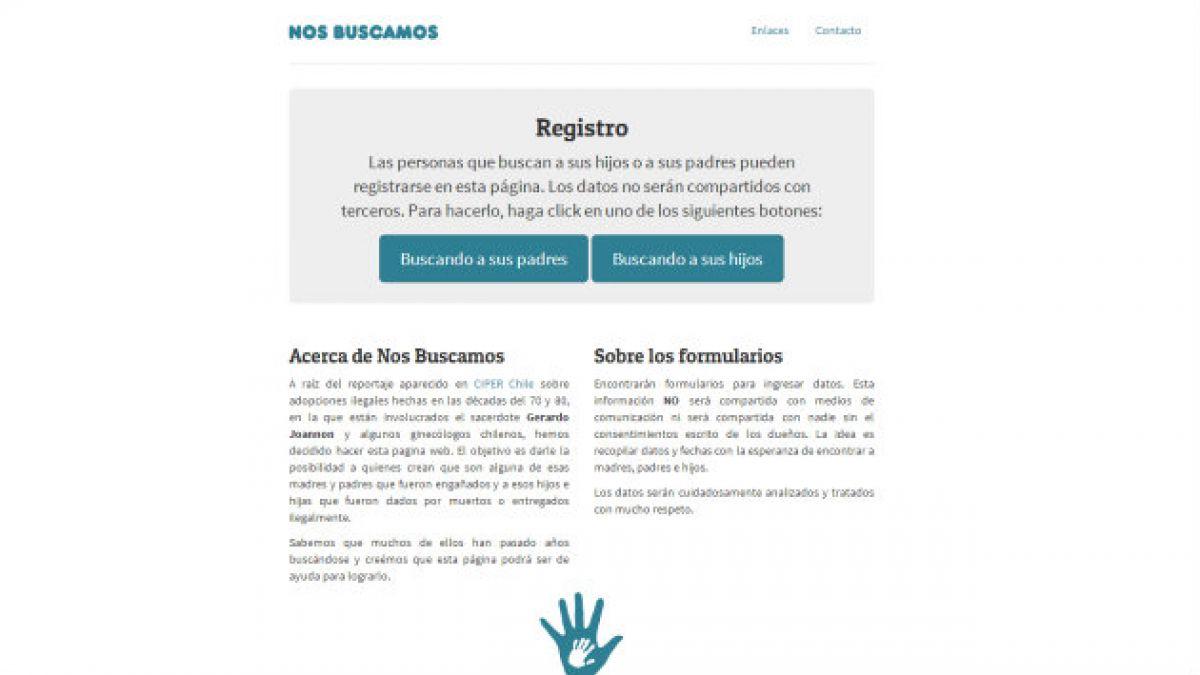 Así funciona nosbuscamos.cl la página que quiere reunir a padres e hijos víctimas de procesos irregu