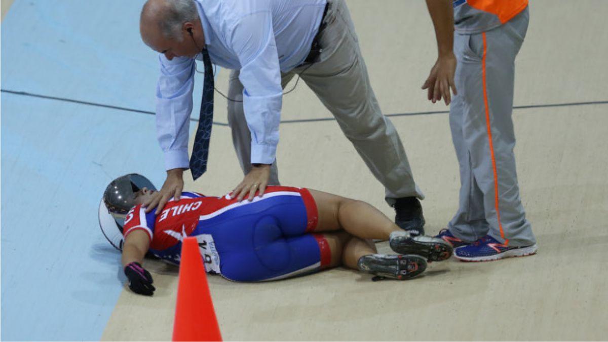 Ciclista chilena sufre grave caída durante prueba de los Odesur