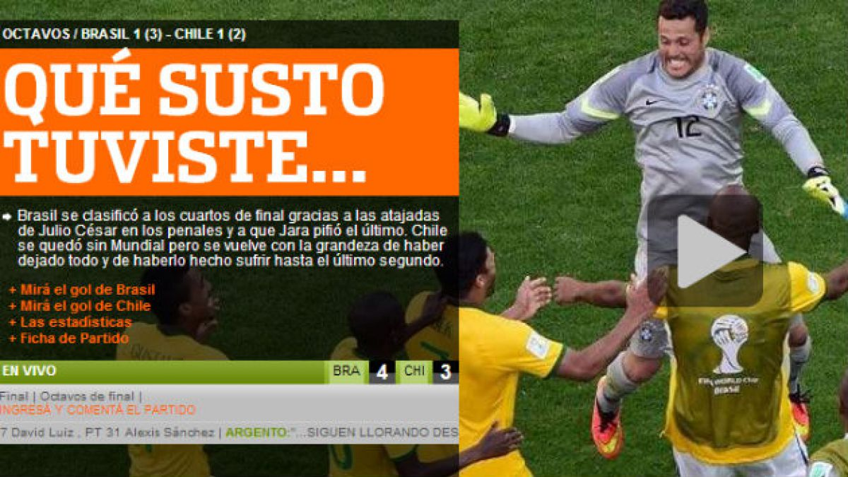 Fue una batalla épica: prensa internacional elogia a Chile y alerta del susto que pasó Brasil