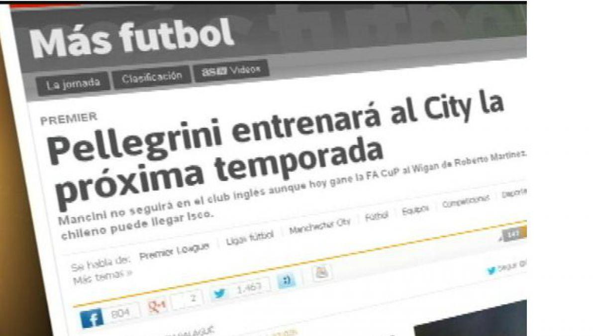 Manchester de Pellegrini busca mantenerse arriba en la Premier League
