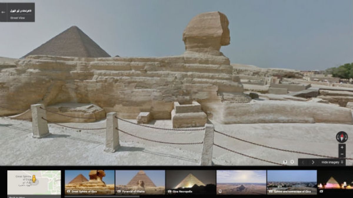 Google Street View ahora permite visitar pirámides egipcias