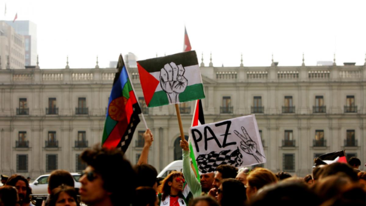 [FOTOS] Así se vivió la marcha en apoyo al pueblo de Palestino