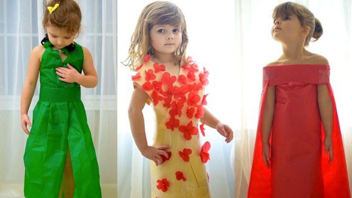 Niña de 4 años impacta en Internet con imitaciones de vestidos famosos