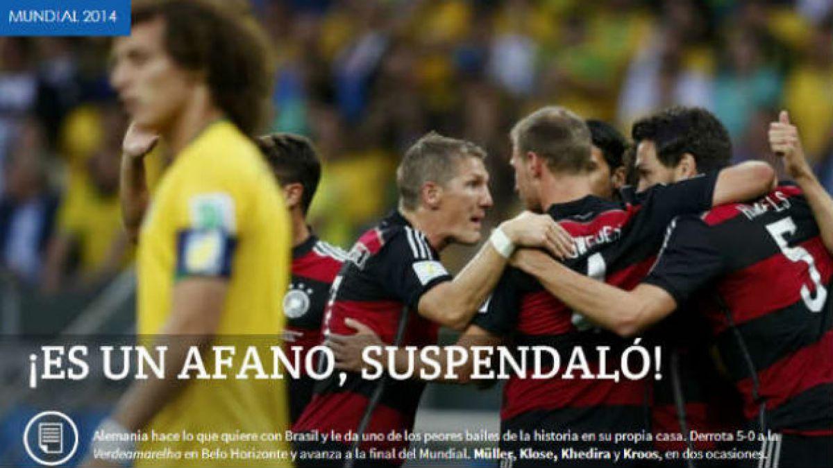 [Fotos] Prensa argentina se burla de la caída de Brasil