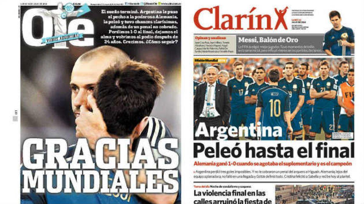 Prensa argentina destaca que la selección peleó hasta el final