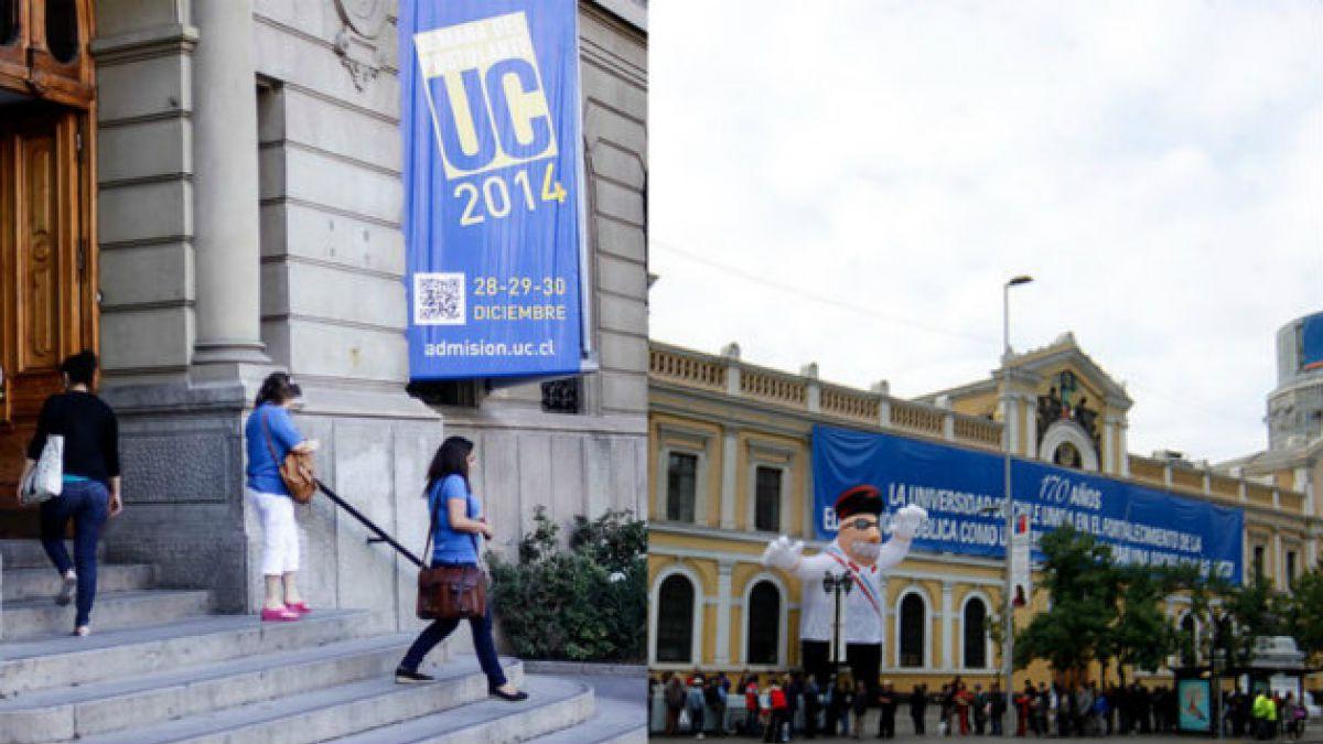 PUC y U. de Chile son las únicas universidades chilenas dentro de las 250 en ranking QS
