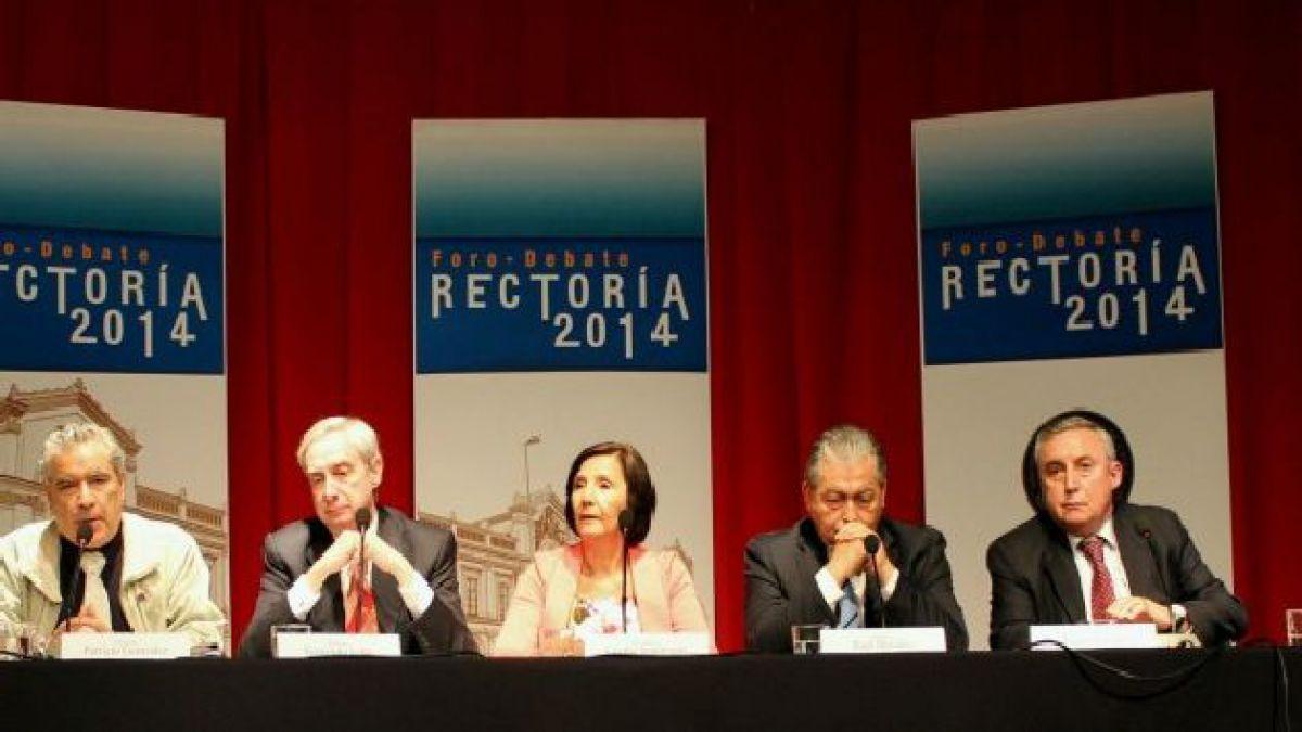 Candidatos a rector reivindican rol público de la U