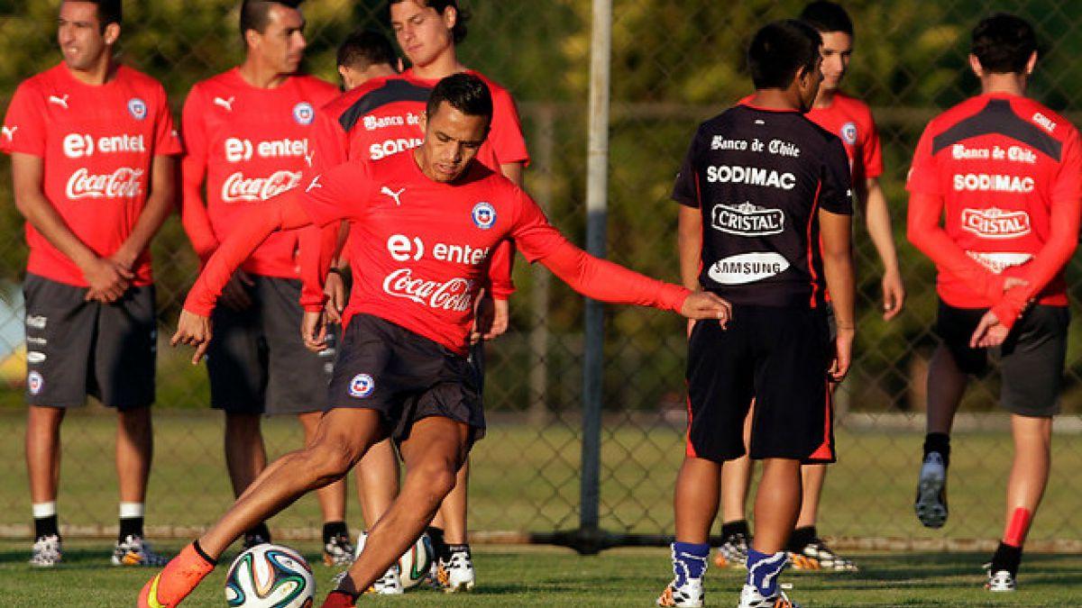 La Roja realizó última práctica antes de viajar a Río para medirse a España