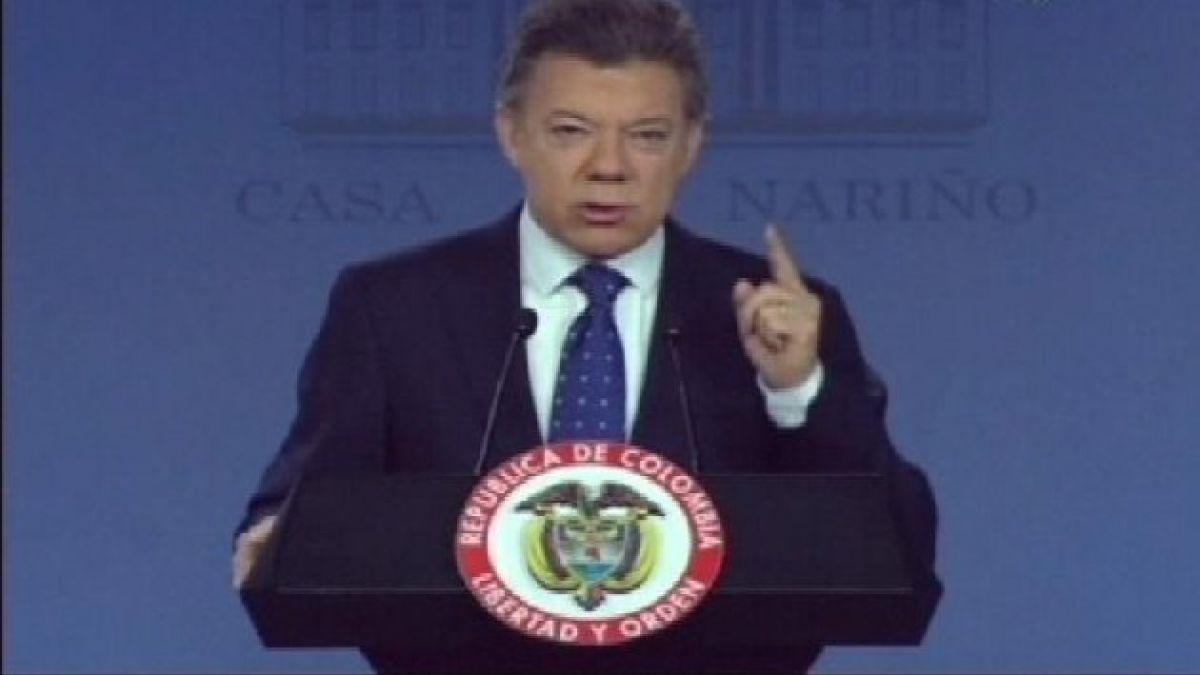 Colombia: Popularidad del presidente Santos registra abrupta caída