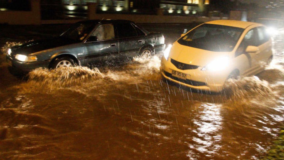 Temporal en la zona centro sur: 74% de superávit de precipitaciones en Valparaíso y 400% en La Seren