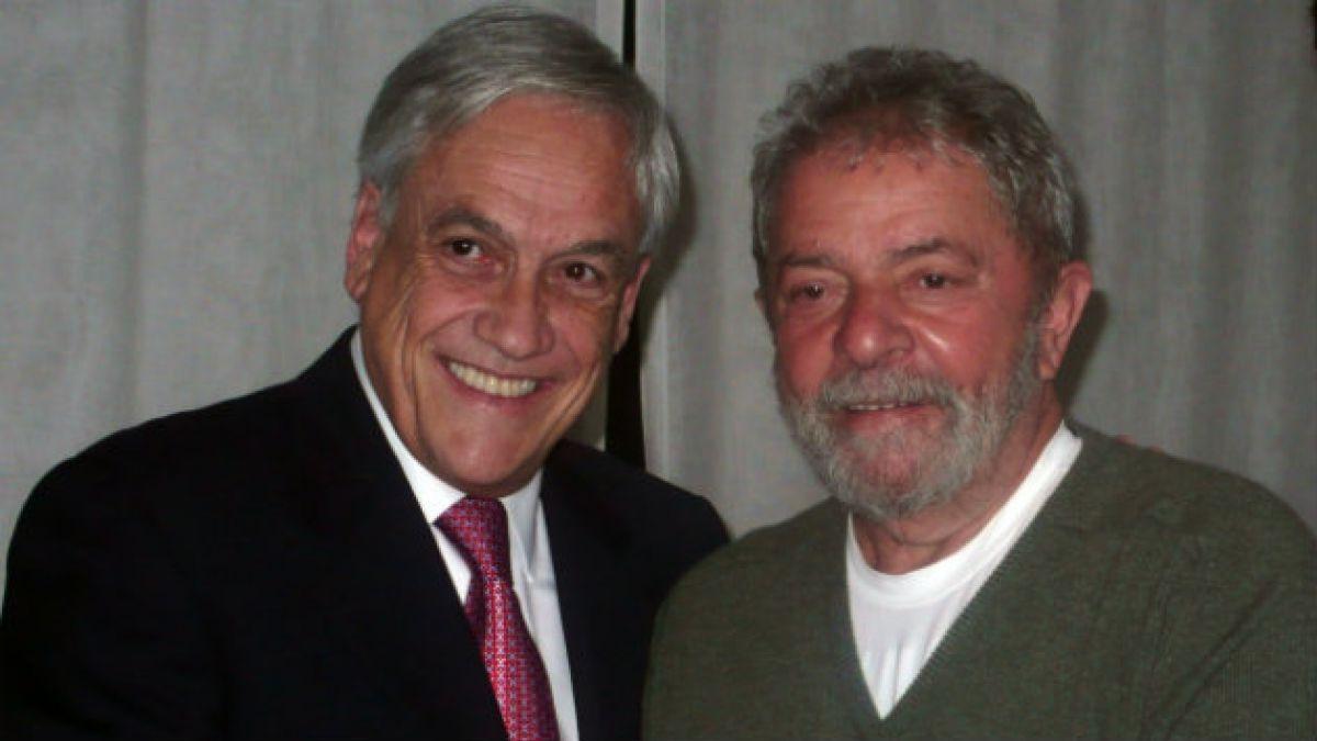 Ex presidente Piñera se reúne con Lula Da Silva y aborda demanda boliviana en La Haya