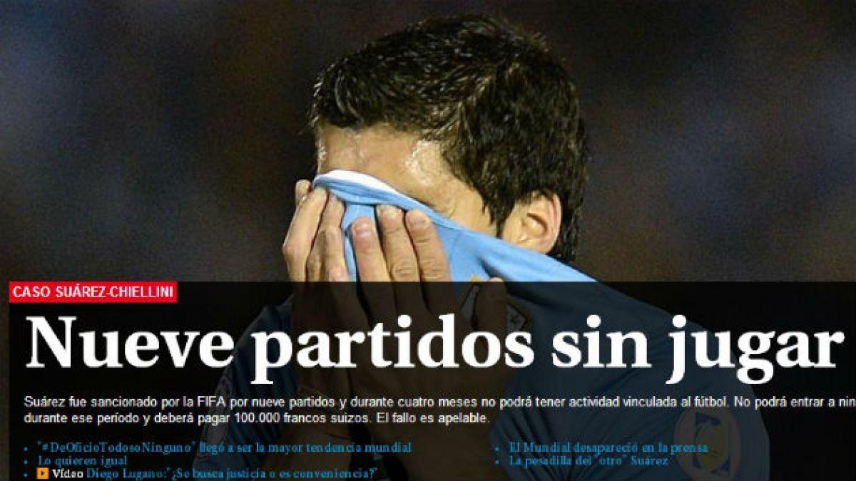 Así reaccionaron los medios uruguayos a la sanción a Luis Suárez