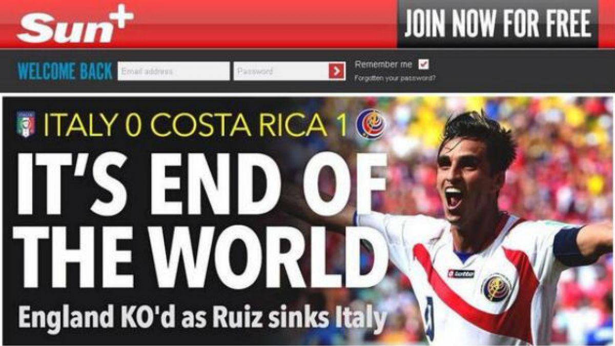 Las portadas de la prensa inglesa y argentina tras el triunfo de Costa Rica
