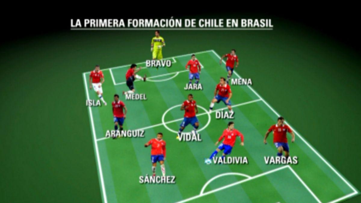 """Este es el equipo con que la """"Roja"""" debutará en el Mundial de Brasil"""