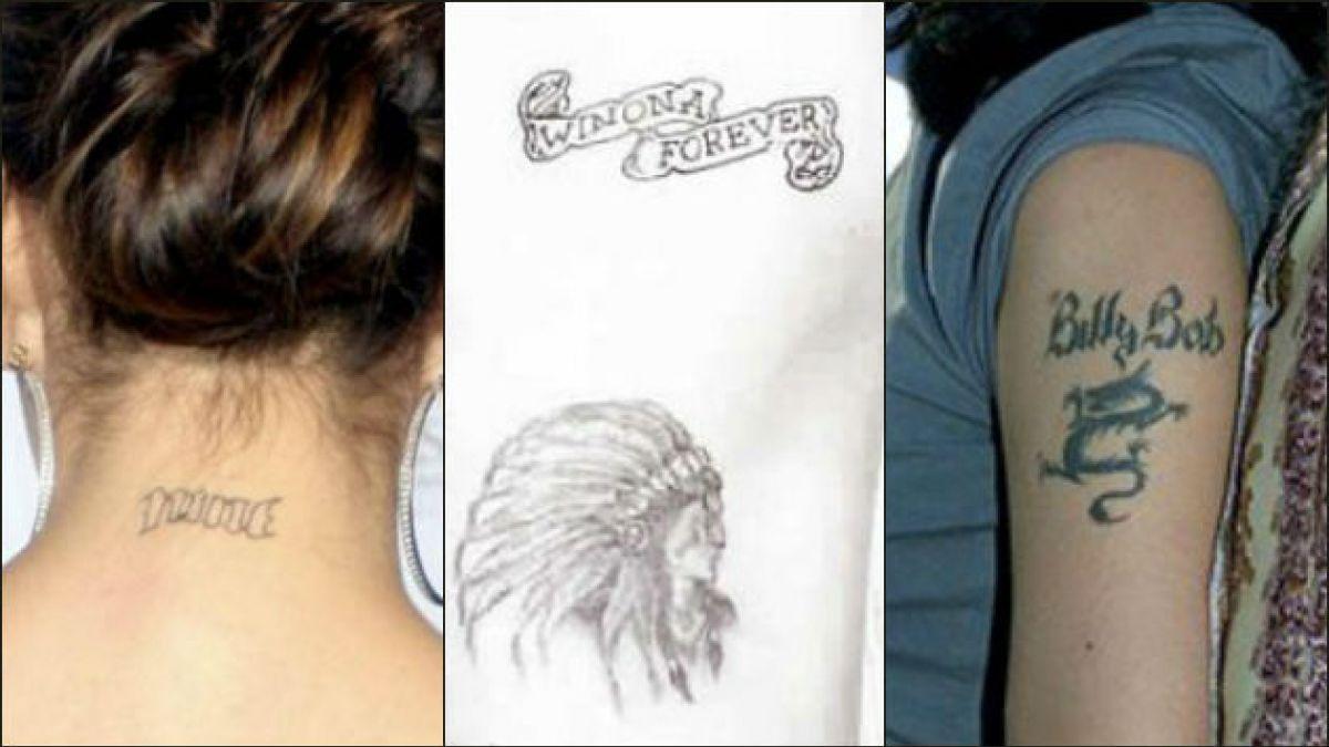 Seis celebridades que borraron sus tatuajes cuando se acabó el amor