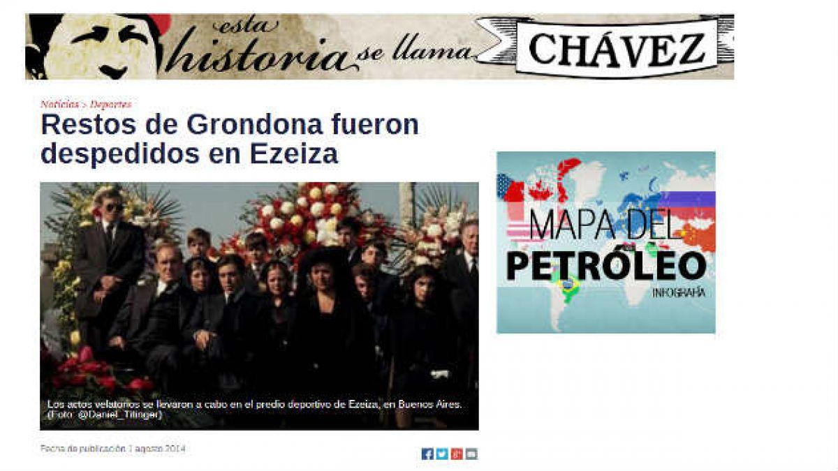 Medio venezolano confunde funeral de Grondona con escena de El Padrino