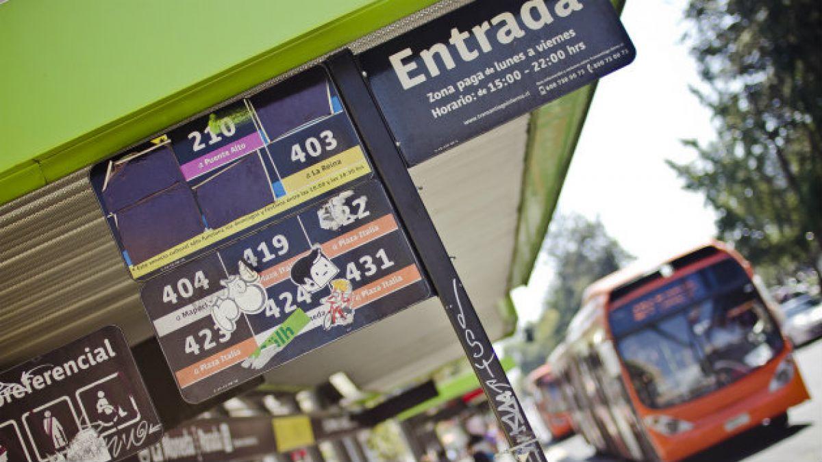 Tarifa de Transantiago ha aumentado en $230 promedio desde 2010