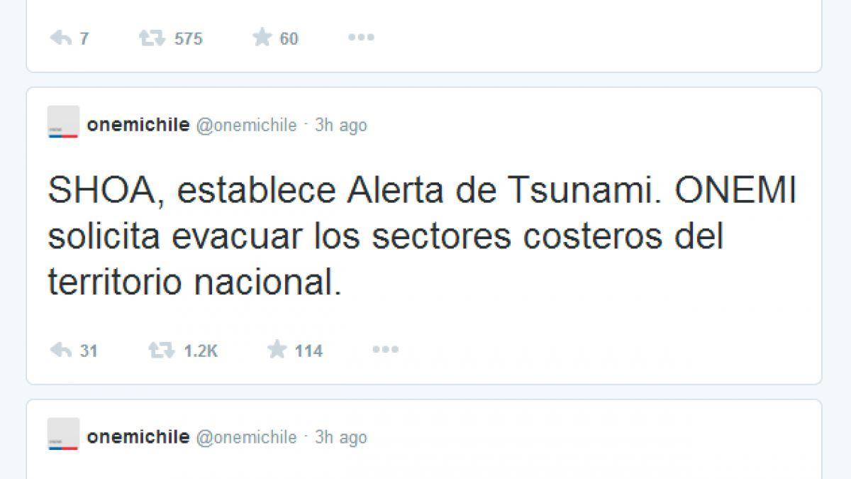 Así se vivieron los primeros momentos en Twitter tras terremoto