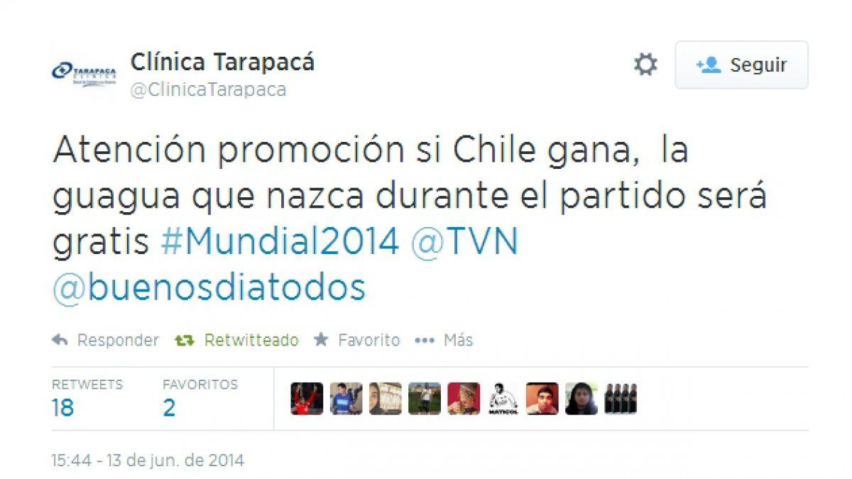 Clínica de Iquique ofrece parto gratis para guagua que nazca en medio del partido Chile- Australia