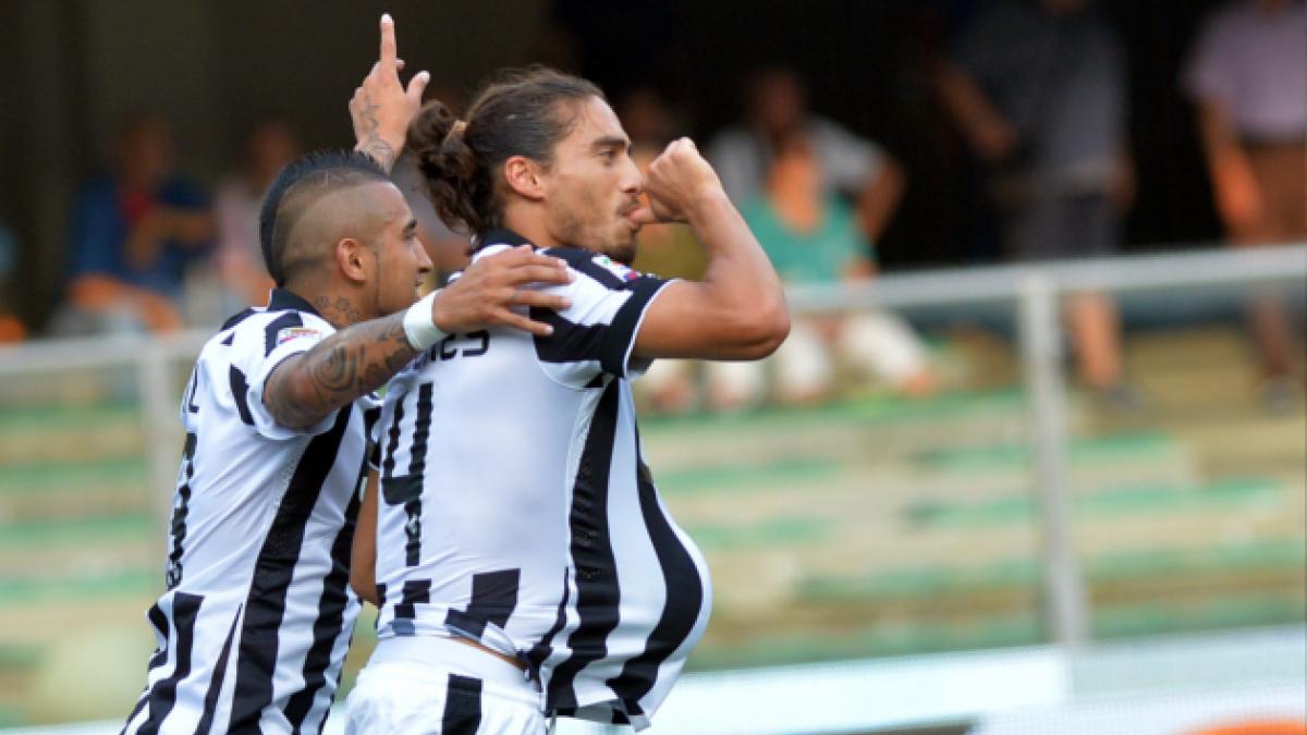 Arturo Vidal es figura de la Juventus en el inicio de la liga italiana