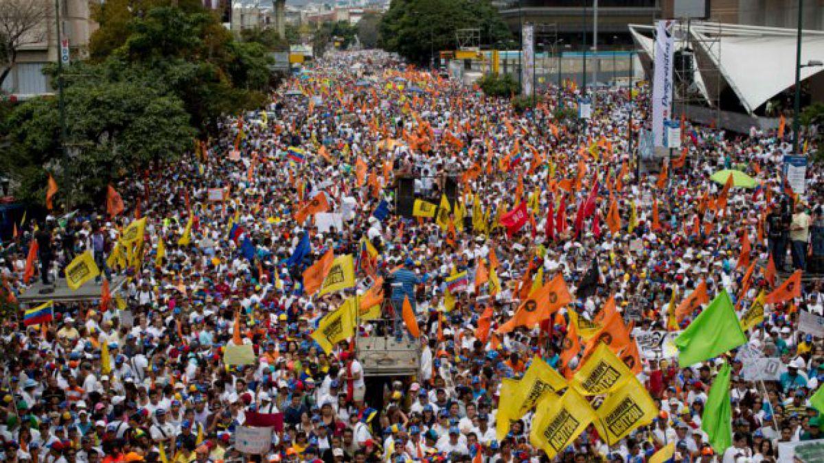 Drone captó nueva jornada de protestas en Caracas