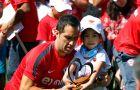 [FOTOS] Así fue la visita de los niños de la Teletón a la Selección Chilena