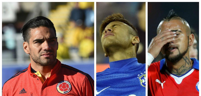 Falcao Vidal Neymar