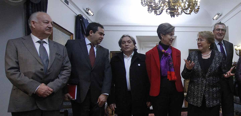 Presidentes de partido con Bachelet proceso constituyente