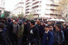 Estudiantes se toman la Alameda en convocatoria no autorizada
