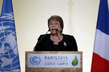 Bachelet reclamó en París justicia climática que atienda dimensión social