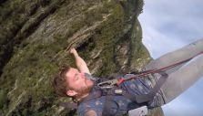 [VIDEO] De la felicidad al lamento: hombre salta en bungee y pierde su celular