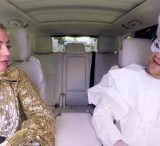 [VIDEO] James Corden sube a Lady Gaga al Carpool karaoke y se disfraza con sus mejores looks
