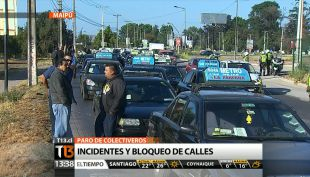 [T13 Tarde] Así fue la jornada de manifestaciones de colectiveros en Santiago