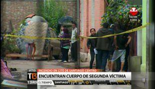 [T13 Tarde] Encuentran segundo cuerpo de víctima de incendio en cité de Santiago