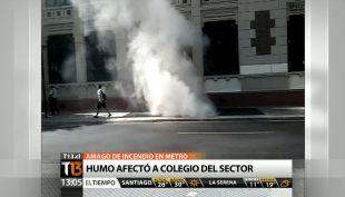 [T13 TARDE] Imágenes exclusivas del amago de incendio en metro Quinta Normal