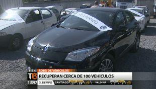 [T13 TARDE] Bloque policial: Recuperan cerca de 100 vehículos robados y más noticias