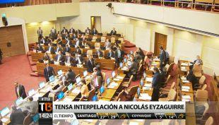[T13 Tarde] Reacciones en La Moneda tras interpelación a ministro Eyzaguirre
