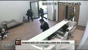 [T13] Ocho delincuentes roban más de $400 millones en una joyería de Vitacura